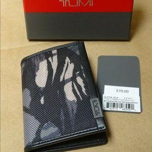NEW Tumi Alpha Men's Card Case Wallet ID Lock